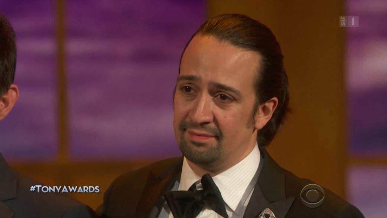 Hip-Hop-Musical «Hamilton» gewinnt elf Tony-Awards