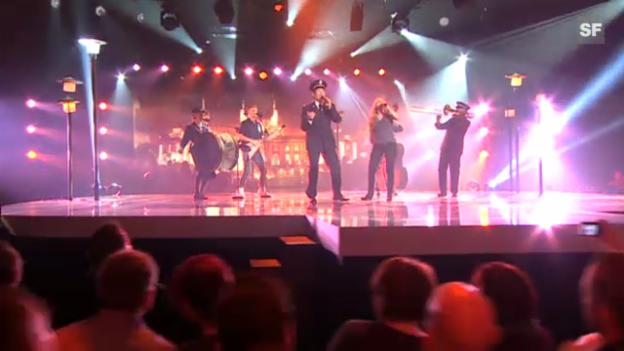 Video «Auftritt Heilsarmee-Band bei ESC-Entscheidungsshow» abspielen
