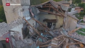 Video «Hohe Sachschäden nach Erdbeben in Italien » abspielen