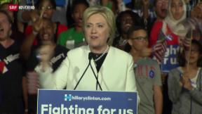 Video «FOKUS: Hillary Clinton auf dem Vormarsch» abspielen