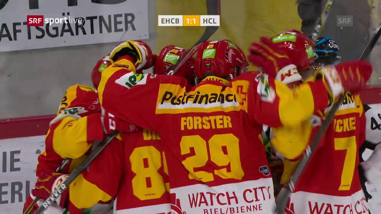 Biel demontiert Lugano zum Halbfinal-Auftakt
