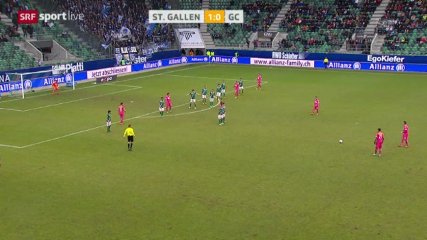 Video «Fussball: Super League, St. Gallen - GC («sportlive», 16.02.2014)» abspielen
