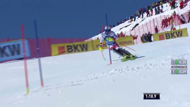 Video «Ski: Daniel Yules zweiter Lauf in St. Moritz» abspielen