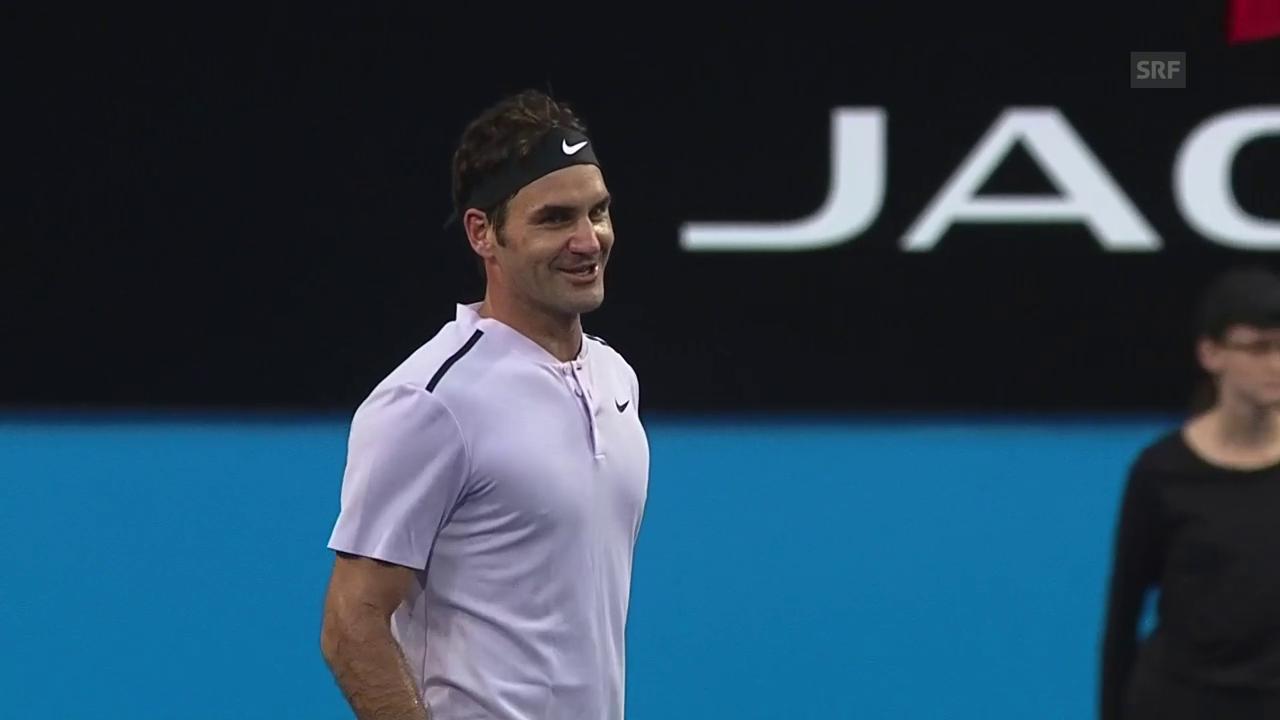 Wie bitte? Federer so flink wie ein Wiesel