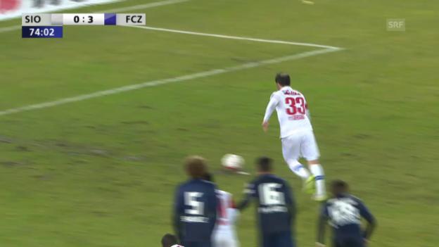 Video «Theofanis Gekas verschiesst einen Penalty gegen Zürich» abspielen