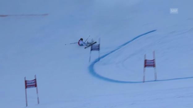 Video «Ski: Lara Gut scheidet aus» abspielen