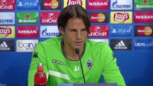 Video «PK mit Yann Sommer vor Sevilla-Gladbach» abspielen