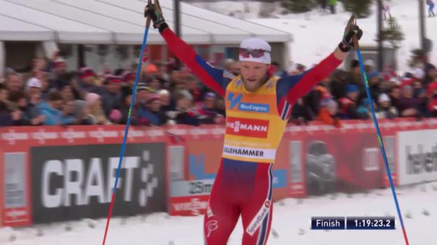 Video «Langlauf: Sundby feiert seinen ersten Sieg im Skiathlon» abspielen