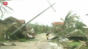 Video «Taifun auf den Philippinen fordert Todesopfer» abspielen