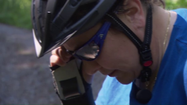 Video «Yvonne Horisberger unterwegs mit dem Mountainboard» abspielen