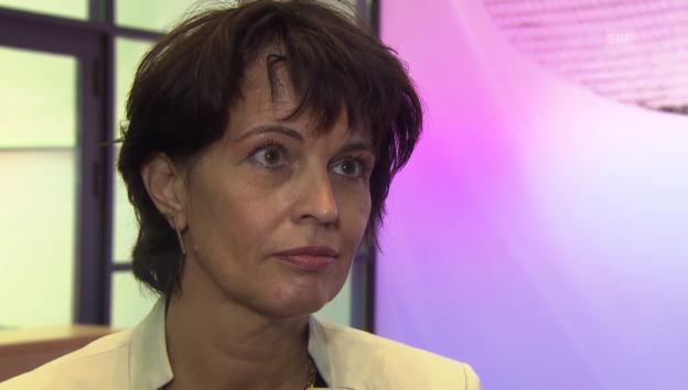 Video «Doris Leuthard über die zweite Gotthardröhre» abspielen