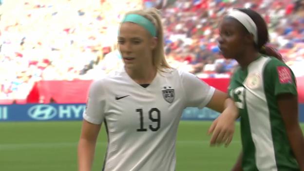 Video «Fussball: Frauen-WM 2015 in Kanada, Gruppenphase, USA - Nigeria» abspielen