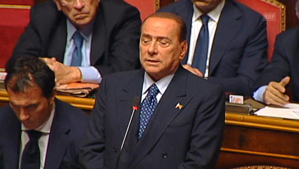 Berlusconi kündigt Unterstützung Lettas an (Originalton)