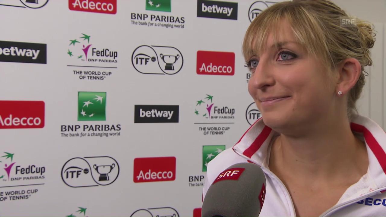 Bacsinszky: «Wir haben einen tollen Teamspirit»