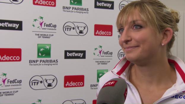 Video «Bacsinszky: «Wir haben einen tollen Teamspirit»» abspielen