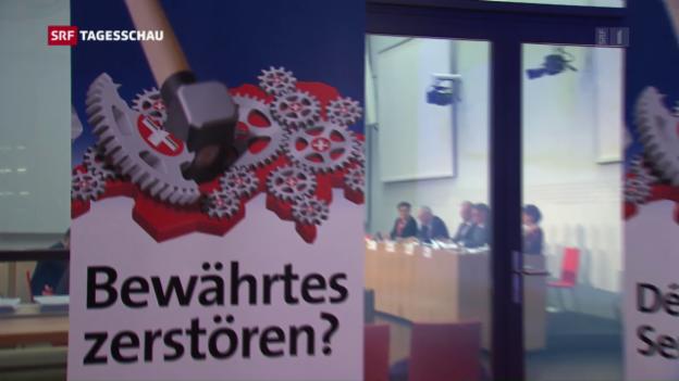 Video «Front gegen Initiative «Pro Service public»» abspielen