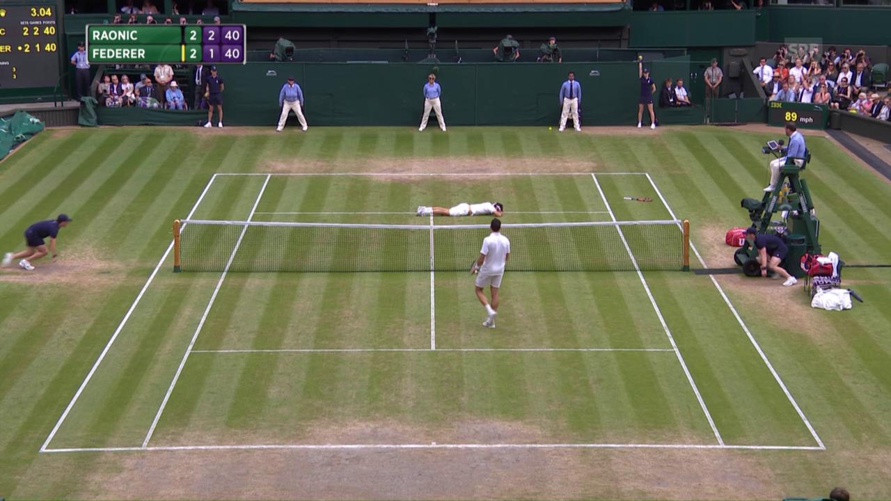 Die Livehighlights bei Federer-Raonic