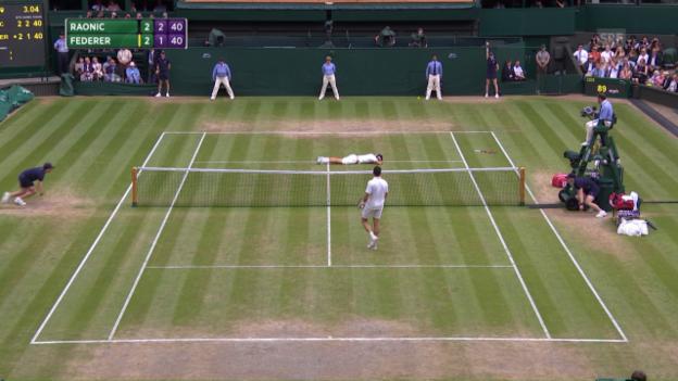 Video «Die Livehighlights bei Federer-Raonic» abspielen