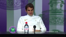 Video «Federers Medienkonferenz nach dem Raonic-Spiel» abspielen
