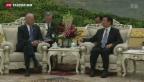 Video «US-Vizepräsident Joe Biden trifft Chinas Führung» abspielen