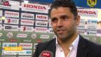 Video «Fussball: Vaduz-Coach Contini und YB-Trainer Forte zum Spiel» abspielen