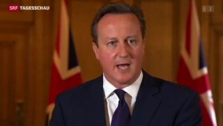 Video «Cameron kündigt IS harten Kampf an» abspielen