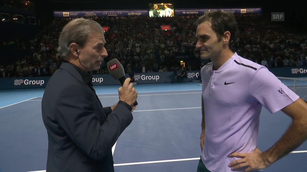 Federer über seinen «perfekten» Auftritt