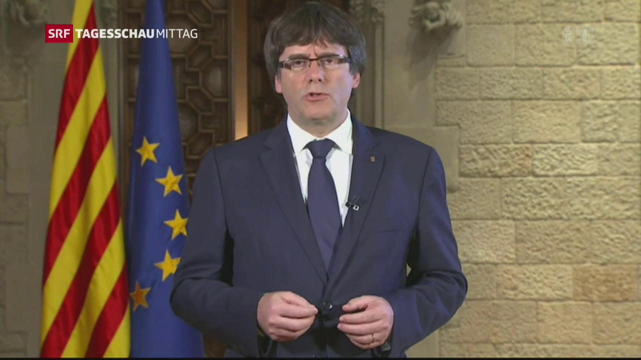 Empörung in Katalonien