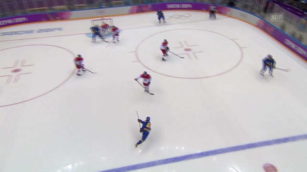 Sotschi: Die Tore von Erik Karlsson gegen Tschechien (sotschi direkt, 12.2.14)