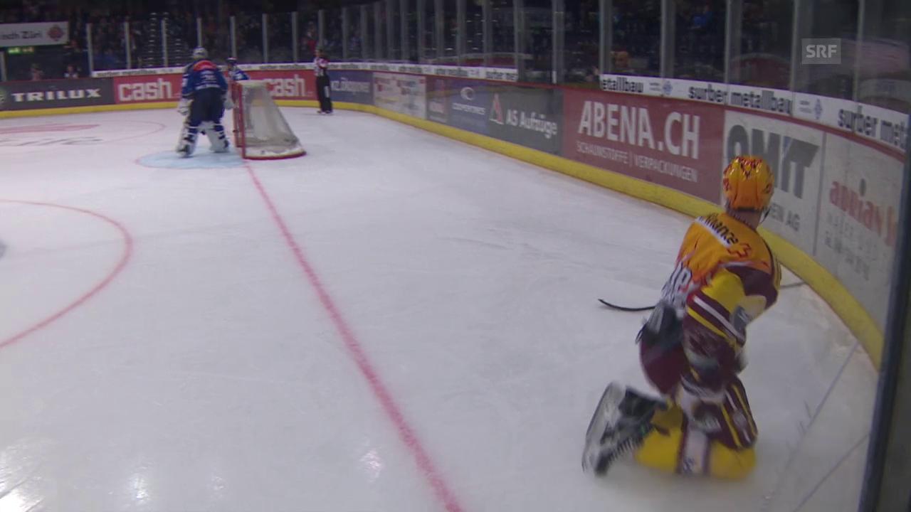 Eishockey: NLA, Playoff, Halbfinal, 1. Spiel ZSC - Genf, Schwalbe D'Agostini