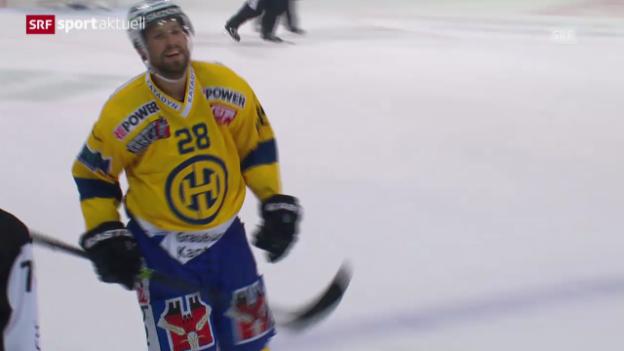 Video «Eishockey: Matchbericht Biel-Davos («sportaktuell»)» abspielen