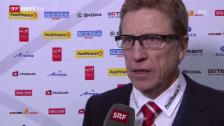 Video «Eishockey: Arosa Challenge, Schweiz - Norwegen, Interview Glen Hanlon (englisch)» abspielen