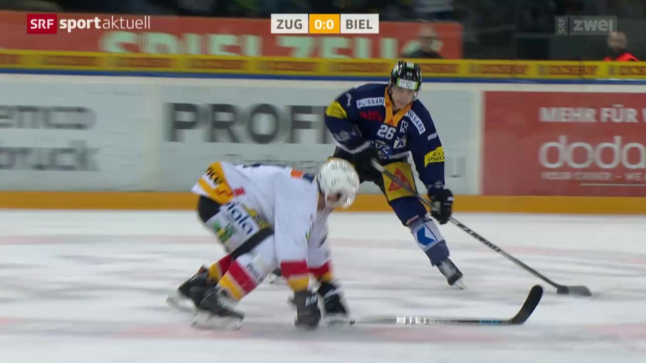 Eishockey: Zug-Biel