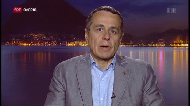 Video «FOKUS: Schaltung zu FDP-Nationalrat Ignazio Cassis» abspielen