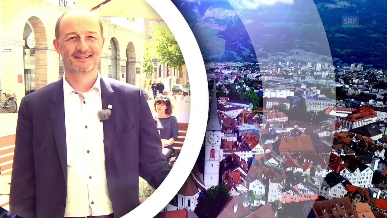 Stadtpräsident Urs Marti zeigt sein Chur