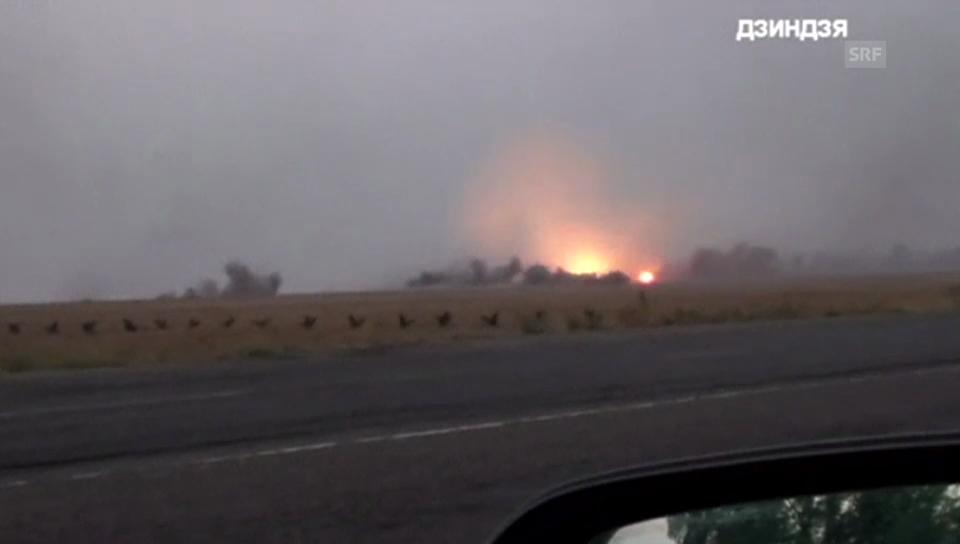 Explosionen im Sekundentakt nahe Mariupol