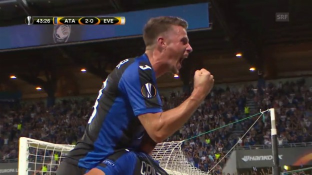 Video «Atalanta schlägt Everton mit 3:0» abspielen