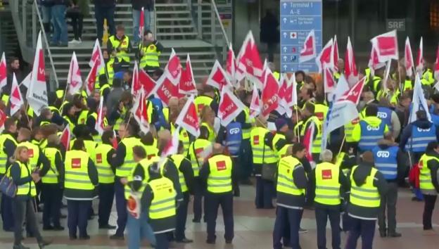 Video «Streik an Deutschlands Flughäfen» abspielen