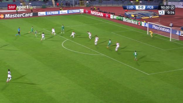 Video «Fussball: CL, Rasgrad - Basel, Tor» abspielen