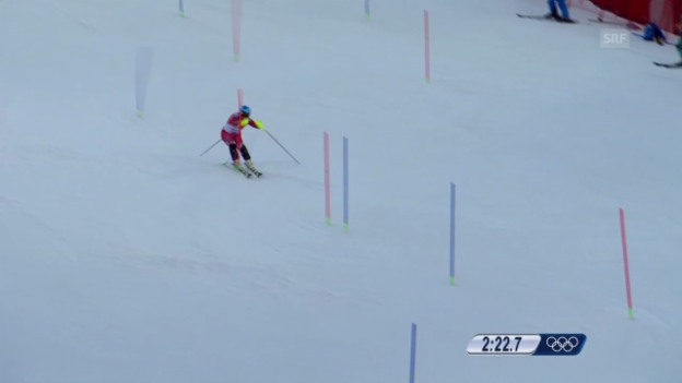 Video «Ski, Kombinations-Slalom, Fahrt von Beat Feuz (sotschi direkt, 14.02.14)» abspielen
