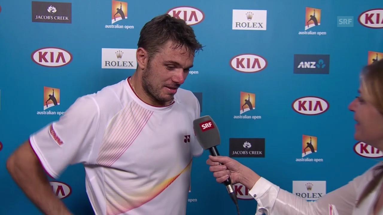 Tennis: Australian Open, Interview Wawrinka französisch («sportlive», 23.01.2014)