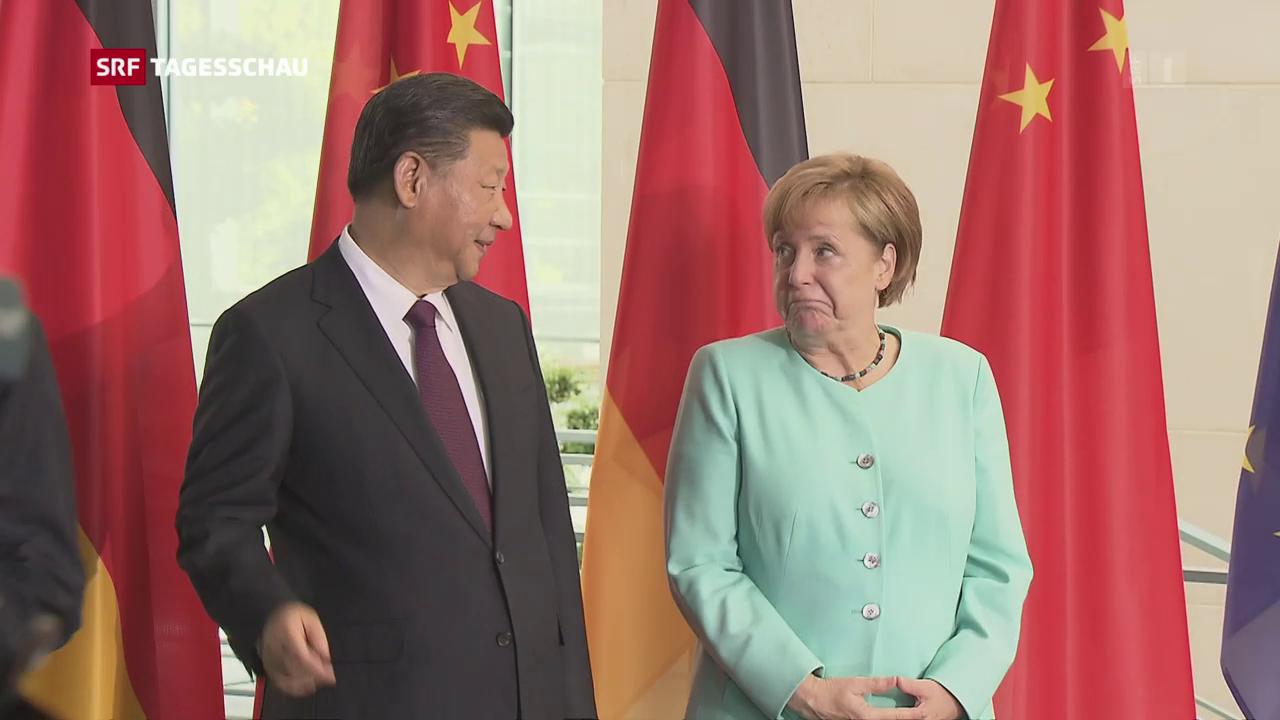 Xi Jinping zu Besuch in Berlin