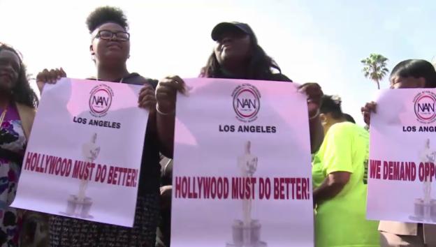 Video «Proteste während der Oscar-Verleihung 2016 (unkomm.)» abspielen