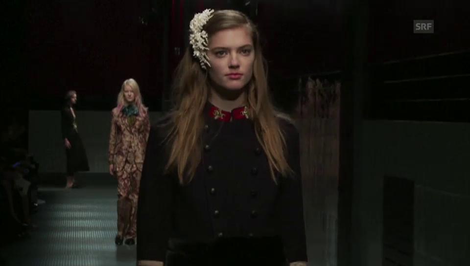 Mailänder Modewoche: Gucci-Show (unkomm. Video)