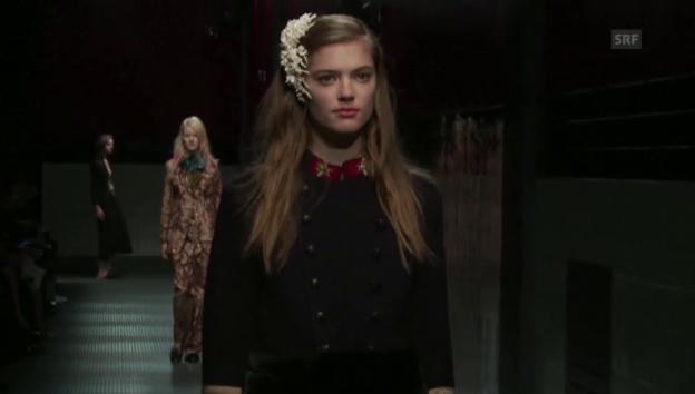 Video «Mailänder Modewoche: Gucci-Show (unkomm. Video)» abspielen