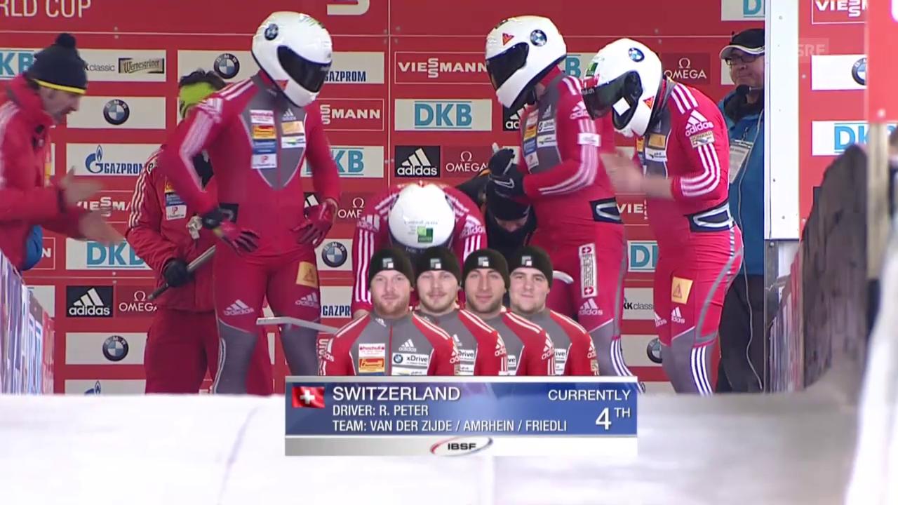 Viererbob: Weltcup Altenberg, 2. Lauf Peter