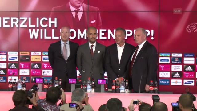 Medienkonferenz mit Pep Guardiola («tagesschau»)