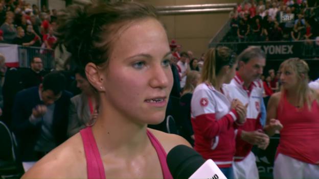 Video «Viktorija Golubic im Platz-Interview: «Habe mich reingefightet»» abspielen