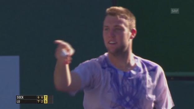 Video «Tennis: ATP 1000 in Indian Wells, Sock - Lu» abspielen