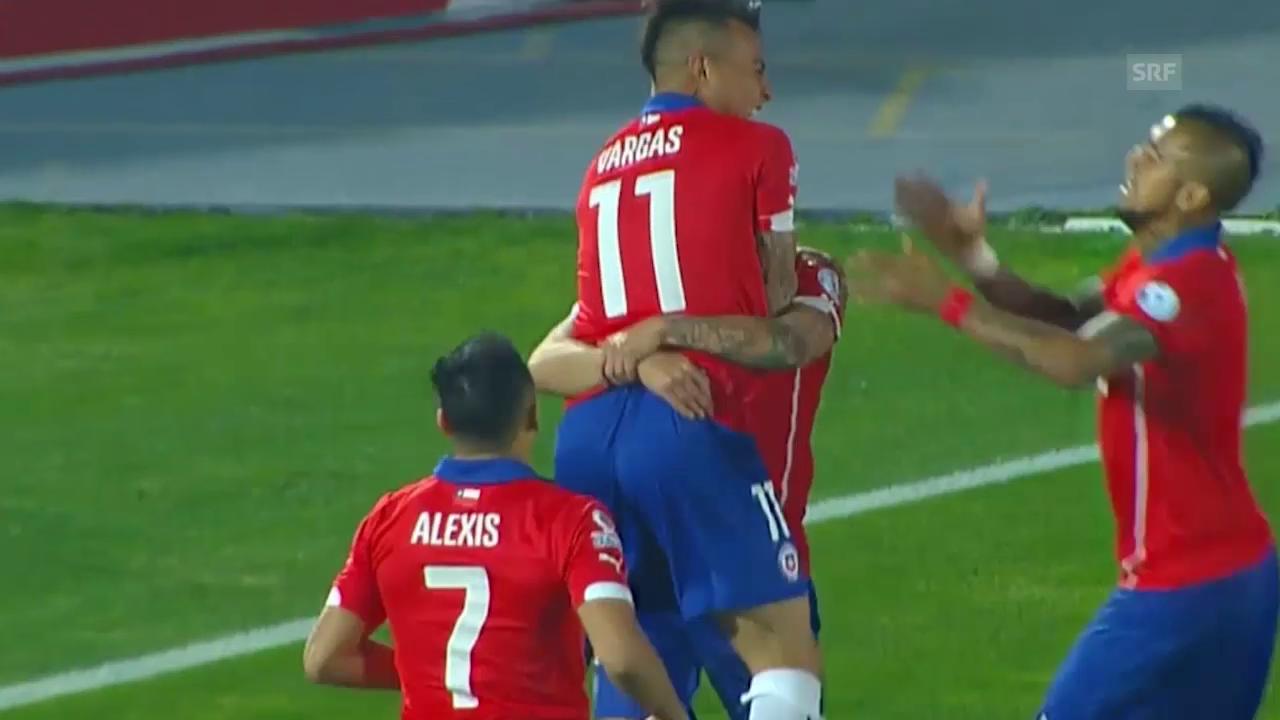 Fussball: Copa America, Gruppe A, die Tore bei Chile-Bolivien